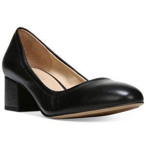 Franco Sarto Fausta Block-Heel Pumps Black Leather